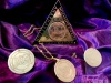 Solid Brass TRIANGLE OF ART Set