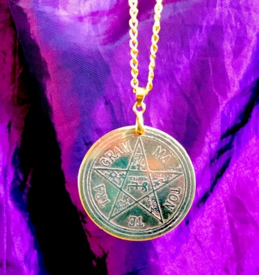 Pentagram of Solomon  (Polished Brass Finish)