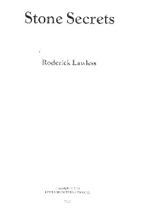 STONE SECRETS By Roderick Lawless