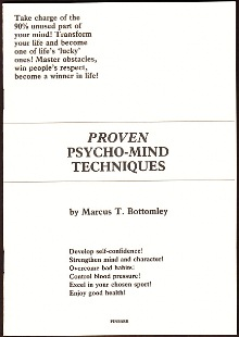 Proven Psycho-Mind Techniques By Marcus T. Bottomley