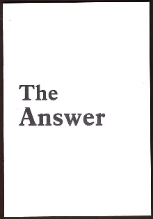 The Answer by James Finbarr